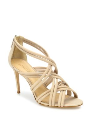 Glassy Strappy Suede Sandals