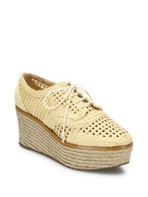 Jules Raffia Espadrille Platform Sneakers