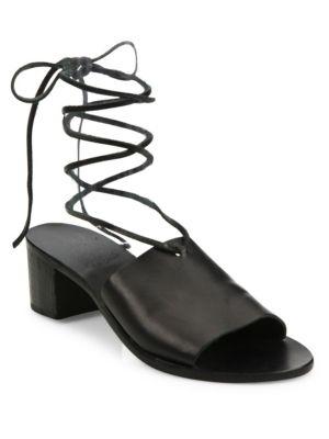 Christina Block Vachetta Leather Sandals