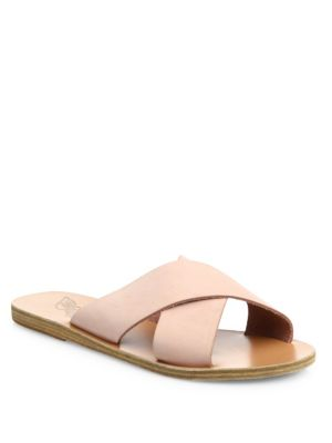 Thais Nubuck Slide Sandals