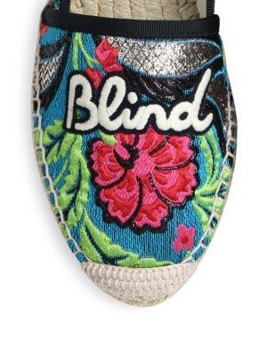 GUCCI Embroidered Floral Brocade Espadrille - Floral Brocade