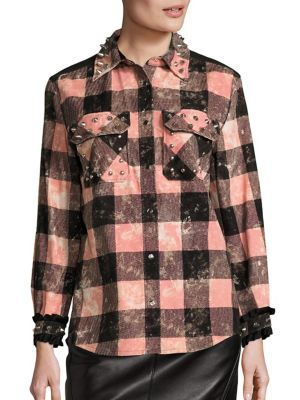 Studded Plaid Shirt by COACH
