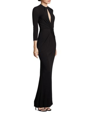 Twist Front Jersey Gown