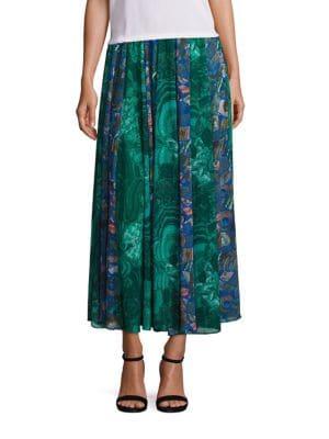Hallmark Mixed Print Midi Skirt