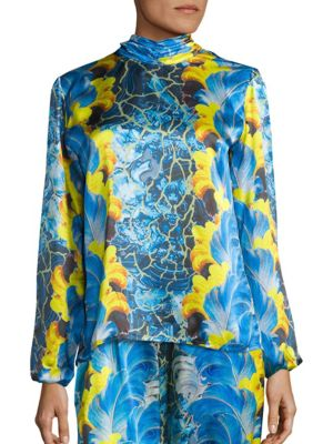 Rocco Plume Silk Blouse