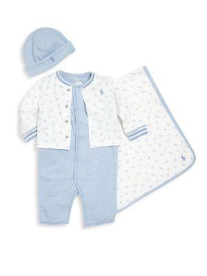 Baby Boy's 4-Piece Gift Set