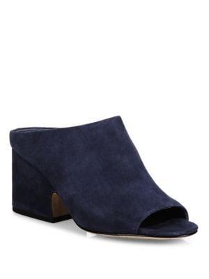 Petra Suede Block Heel Mules
