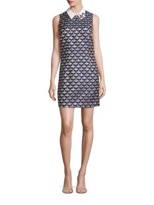Queen Bee Jacquard Shift Dress