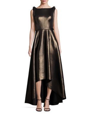 Metallic Hi-Lo Gown