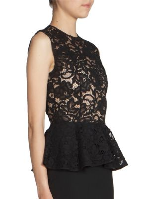 Lace Top Peplum Dress