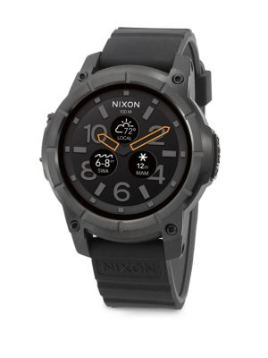 NIXON Mission Polycarbonate & Silicone Strap Touchscreen Smartwatch