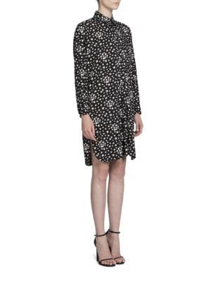 Star Printed Shirt Dress