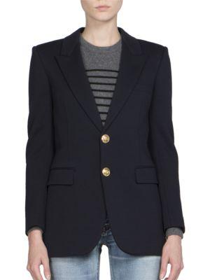 Anchor Button Wool Jersey Blazer