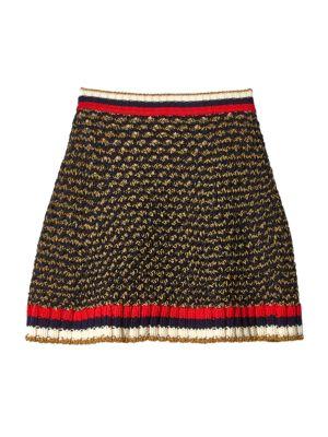 gucci female 224337 web lurex blend skirt