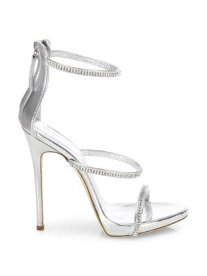 Swarovski Crystal Accented Leather Sandals