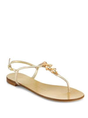 Swarovski Crystal Accented Thong Sandals