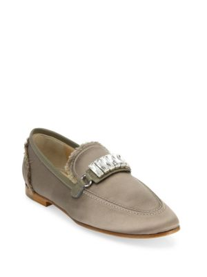 Fringed Silk Loafers