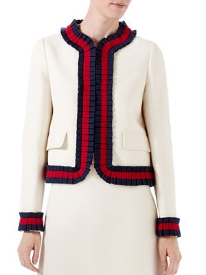 gucci female silk cotton jacket