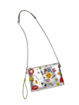 Girl's Convertible Emoji-Print Crossbody Bag