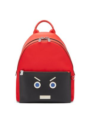 Fendi Faces Leather Backpack by Fendi