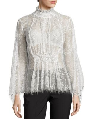 Love Myself Floral Lace Blouse