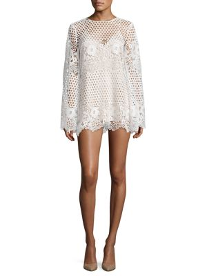 Like I Would Lace Mini Dress