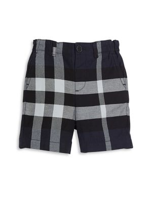 Baby's & Toddler Boy's Military Check Cotton Chino Shorts
