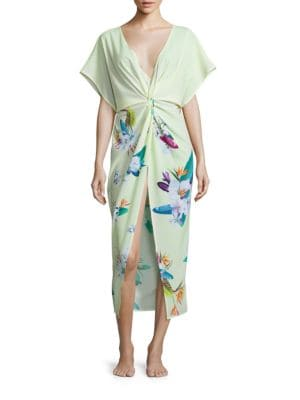 Chica Floral Print Coverup