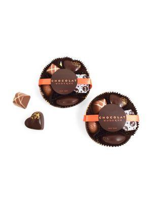 Mixe Modernne Dark & Milk Chocolate Assortment/Set of 2