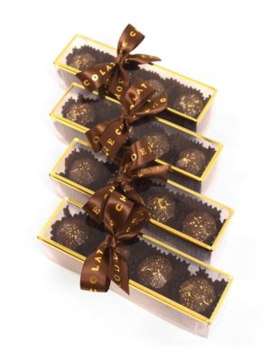 Champagne Chic Chocolate Bonbons Assortment/Set of 4