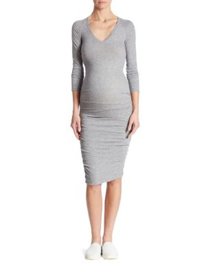 Ruched Maternity T-Shirt Dress