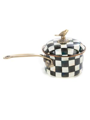 Courtly Check Enamel Saucepan 0400092530383