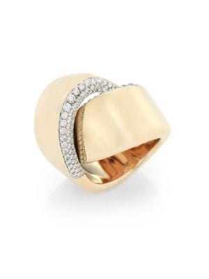 VHERNIER Abbraccio Diamond & 18K White Gold Ring