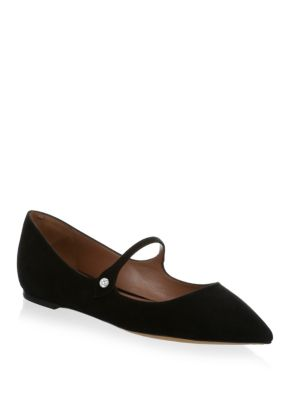 Hermione Suede Mary Jane Flats