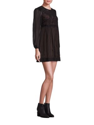 Astrid Floral Lace Top Silk Dress