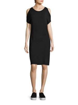 Soft Touch French Terry Cold-Shoulder Dress