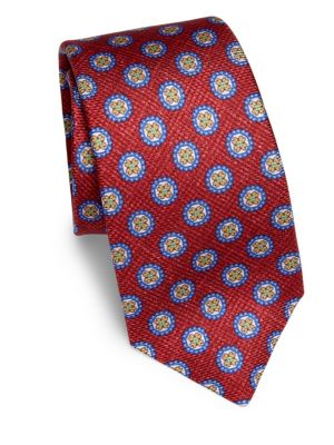 Textured Floral Silk Tie
