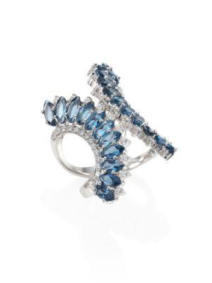 Mirage Diamond & London Blue Topaz Ring