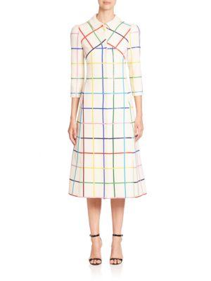 Benatar Rainbow Grid Wool Coat