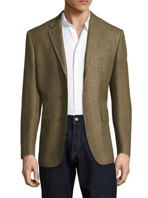 POLO RALPH LAUREN Regular-Fit Harvard Wool & Silk-Blend Blazer