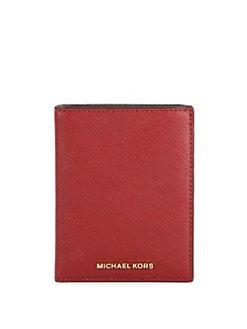 df789087dff4d MICHAEL MICHAEL KORS Giftables Travel Box Leather Passport Wallet Set