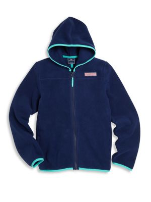 Toddler's Little & Boy's Fleece Hooded Full Zip Jacket