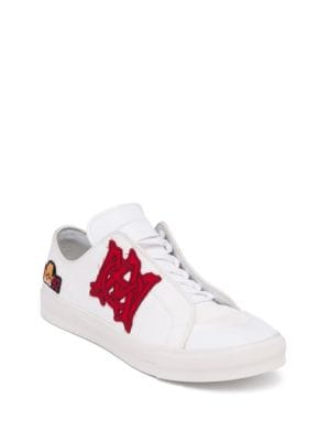 Canvas Patch-Accented Sneakers