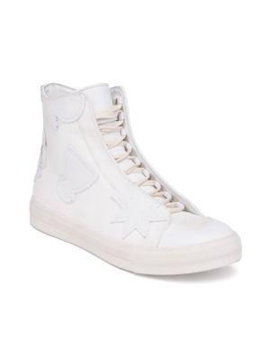 ALEXANDER MCQUEEN Tonal Patch High-Top Sneakers
