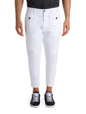 Cropped Cotton Cargo Pants