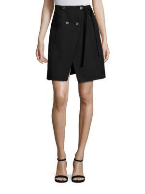 Cotton & Wool Asymmetrical Skirt