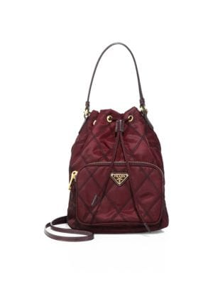 Tessuto Impunturato Quilted Bucket Bag