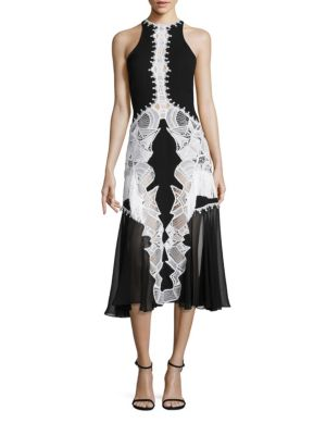 Lace Applique Contoured Dress