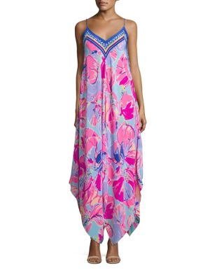 Rene Silk Printed Maxi Dress