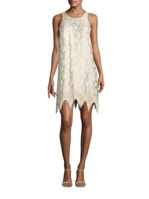 Marquette Silk Shift Dress